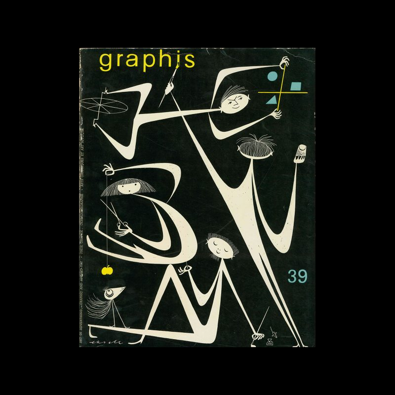 Graphis 39, 1952. Cover design by Olle Eskell