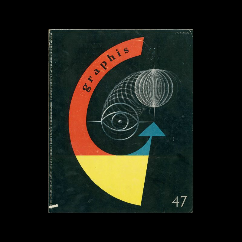 Graphis 47, 1953. Cover design by Abram Games