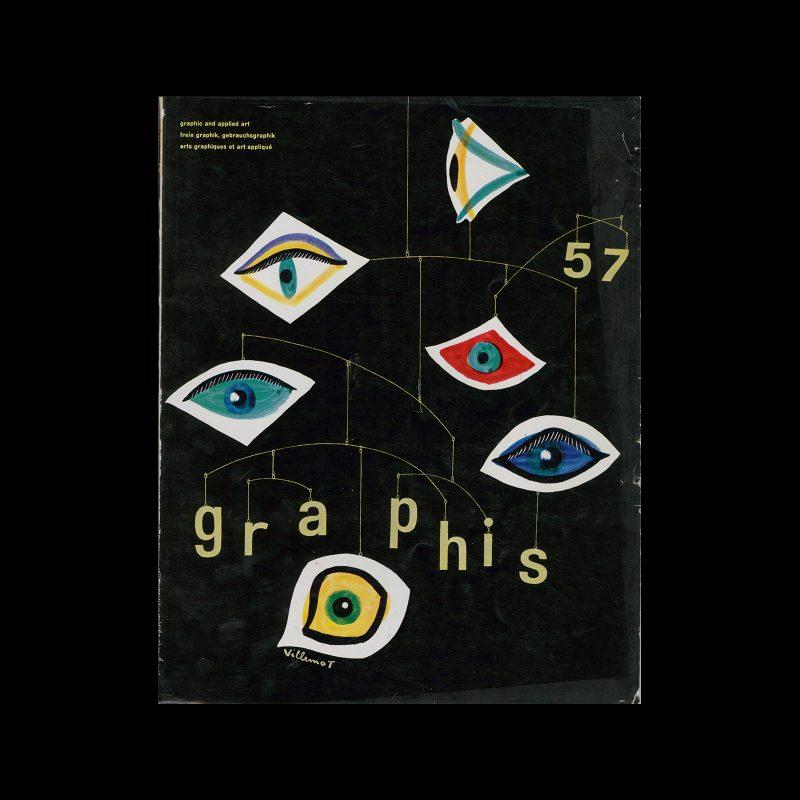 Graphis 57, 1955. Cover design by Bernard Villemot