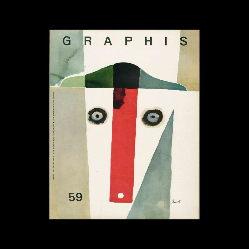 Graphis 59, 1955. Cover design by George Giusti