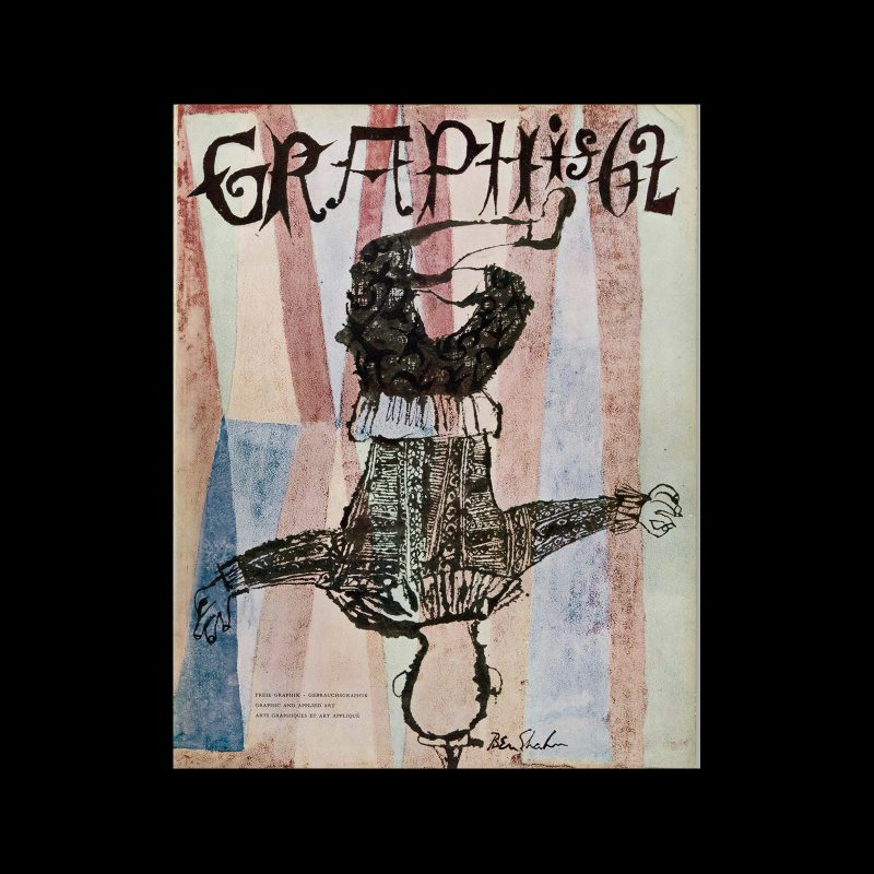 Graphis 62, 1955. Cover design by Ben Shahn