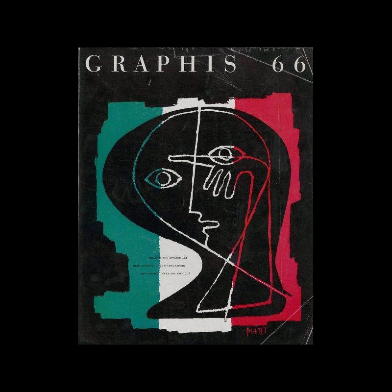Graphis 66, 1956. Cover design by Celestino Piatti