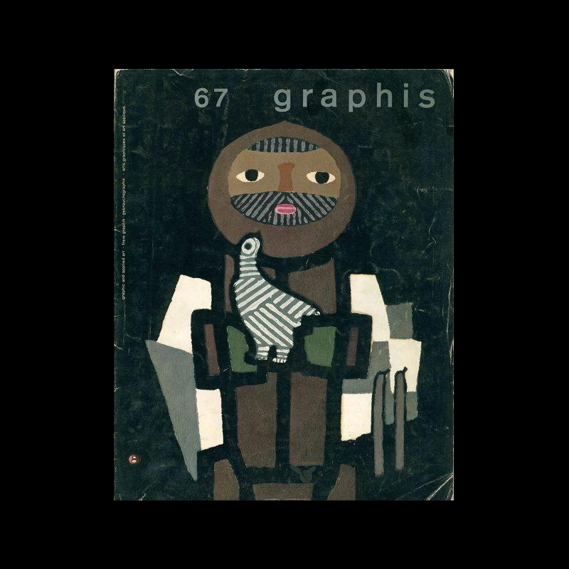 Graphis 67, 1956. Cover design by Umetaro Azechi