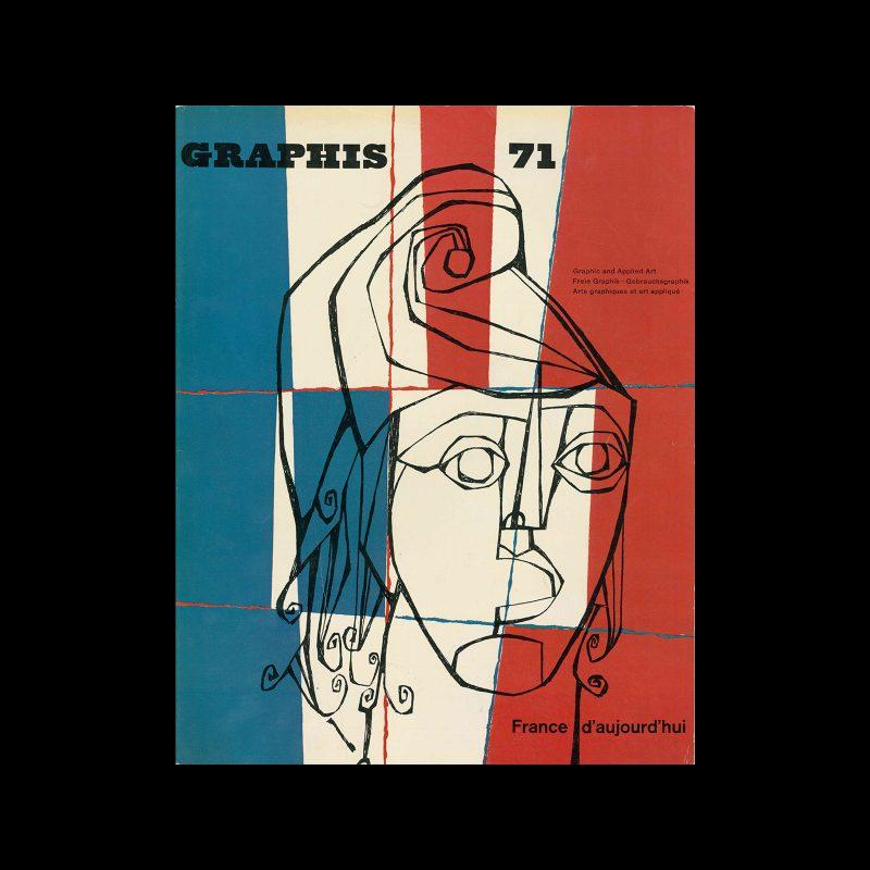 Graphis 71, 1957. Cover design by Phillipe Delessert.
