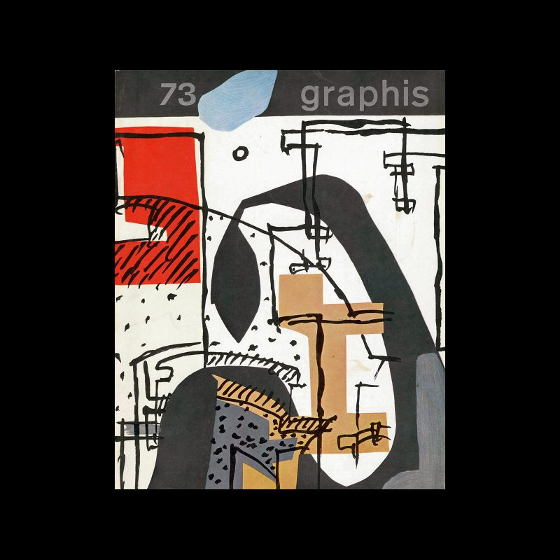 Graphis 73, 1957. Cover design by Le Corbusier.