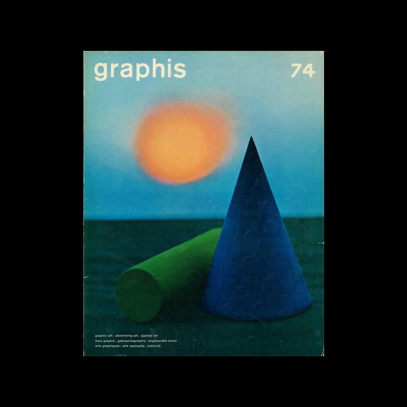 Graphis 74, 1957. Cover design by Bert Stern.