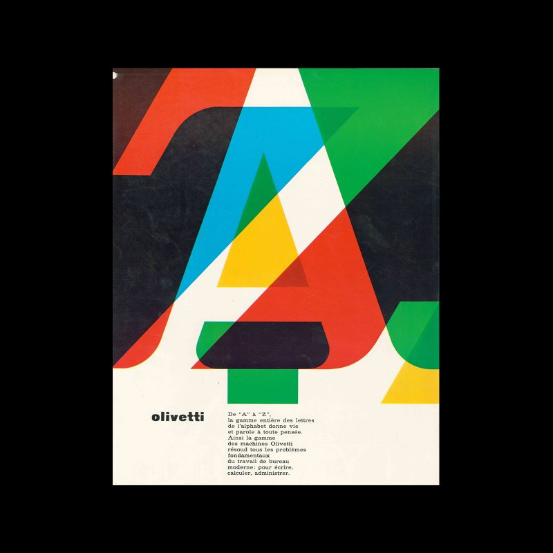 Olivetti, advertisement, 1962. Designed by Walter Ballmer.