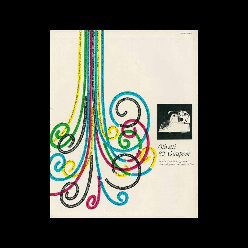 Olivetti Diaspron 82, Magazine Advertisement, 1959. Design by Giovanni Pintori.