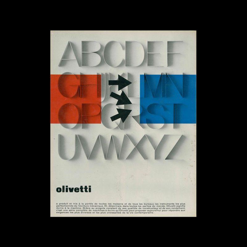 Olivetti, advertisement, 1964. Designed by Giovanni Pintori
