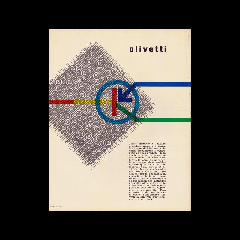 Olivetti accounting machine Audit and Mercator, advertisement, 1960-62. Designed by Giovanni Pintori.