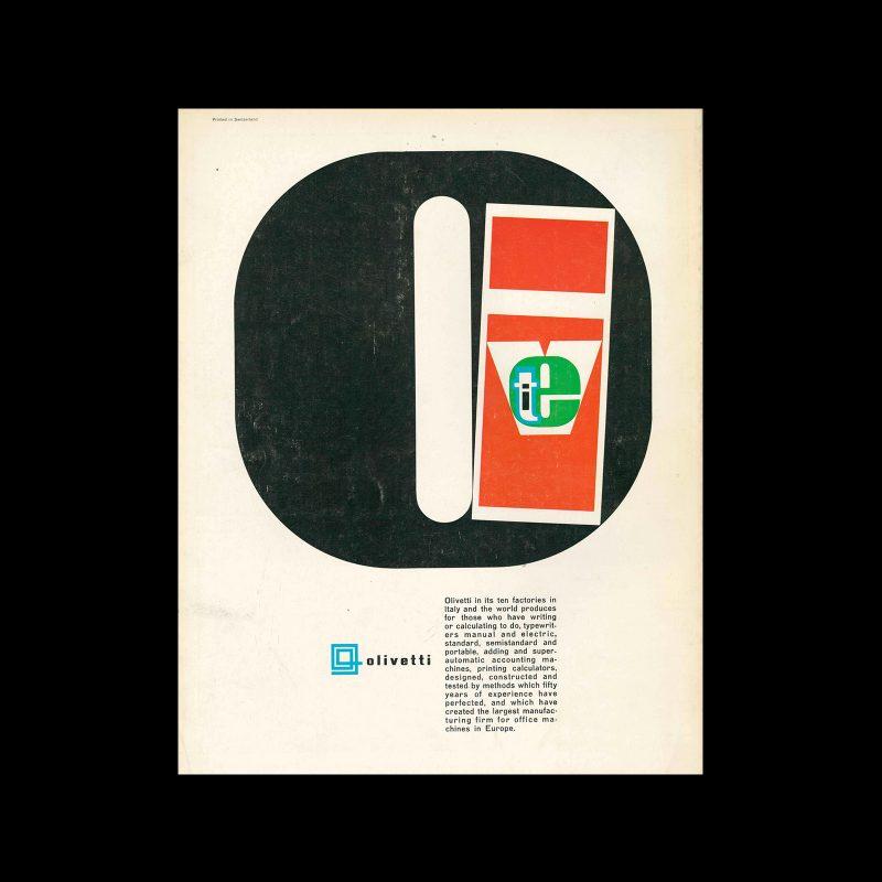 Olivetti, advertisement, 1962. Designed by Giovanni Pintori,