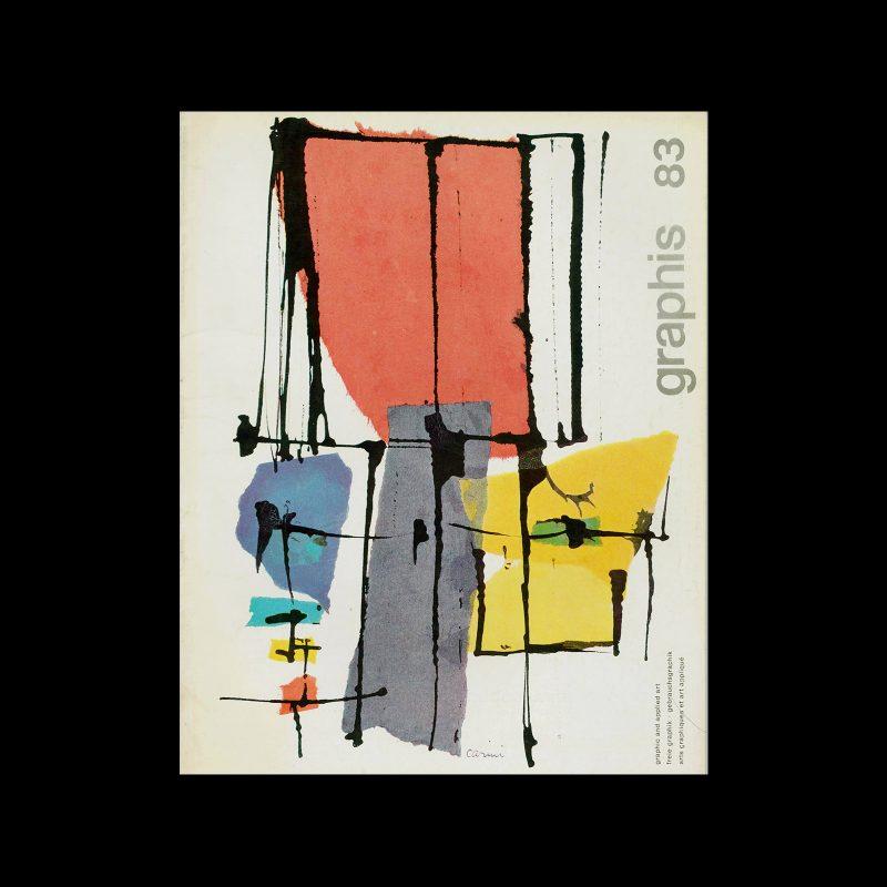 Graphis 83, 1959. Cover design by Eugenio Carmi.