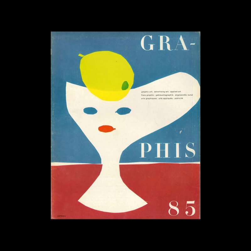 Graphis 85, 1959. Cover design by Hans Hartmann.