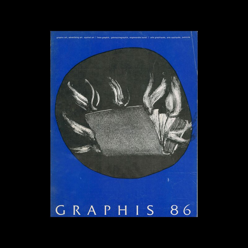 Graphis 86, 1959. Cover design by Max Hunziker.