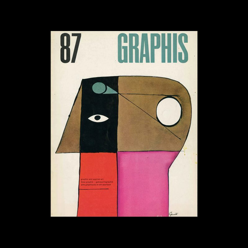 Graphis 87, 1960. Cover design by George Giusti.