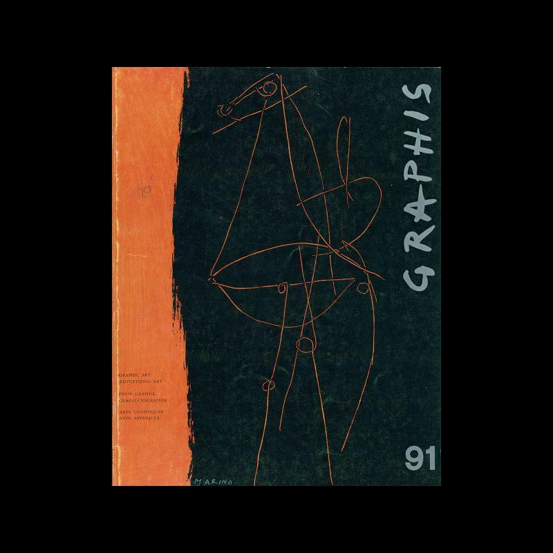 Graphis 91, 1960. Cover design by Marino Marini