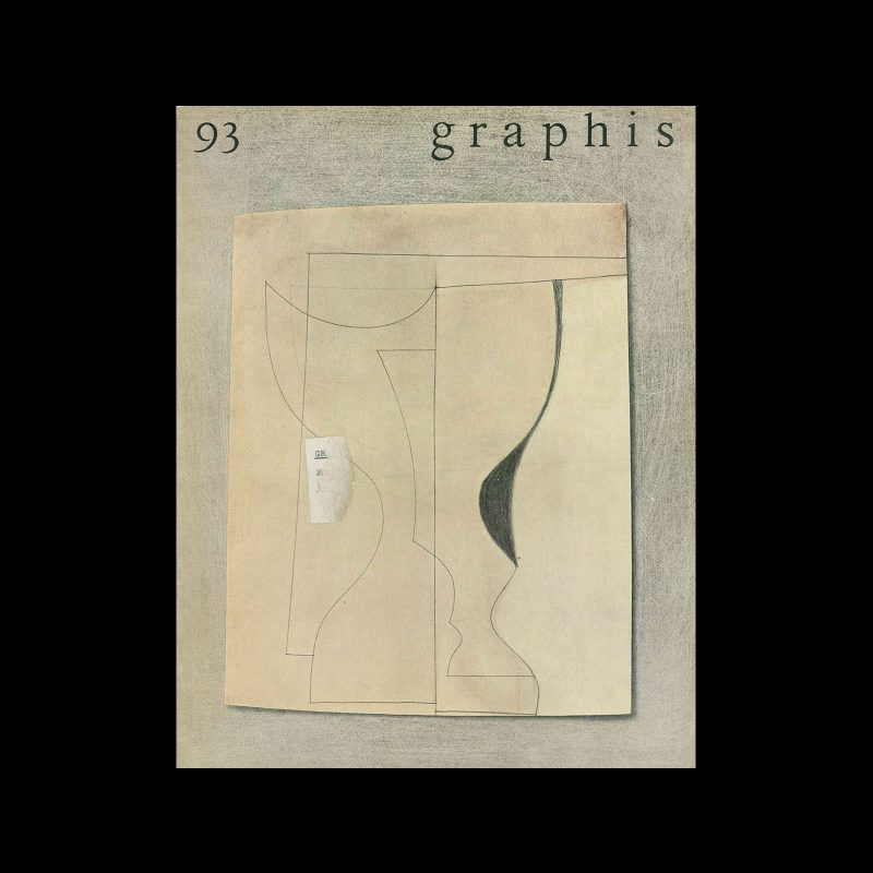 Graphis 93, 1961. Cover design by Ben Nicholson.