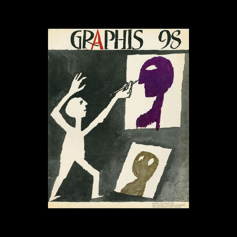Graphis 98, 1961. Cover design by Heiri Steiner.