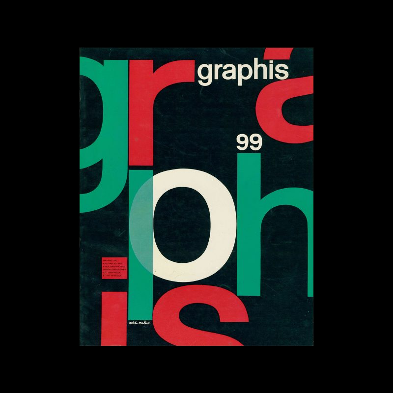 Graphis 99, 1962. Cover design by Reid Miles