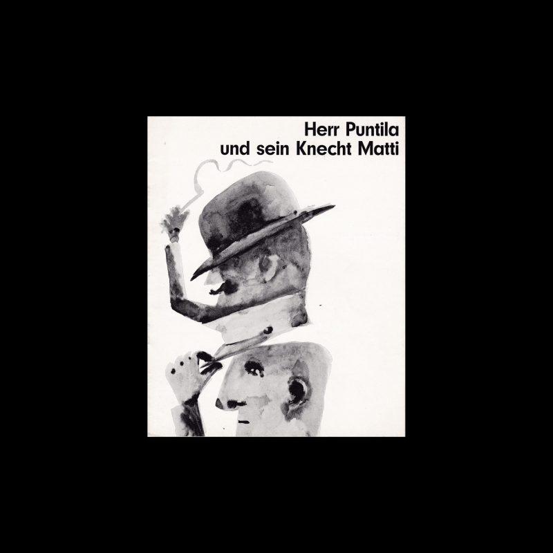 Herr Puntila und sein Knecht Matti. Die Kleine Filmkunstreihe 15 designed by Hans Hillmann
