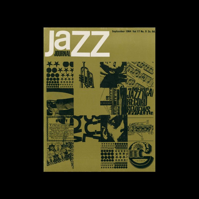 Jazz Journal, 9, 1964. Cover design by Cal Swann