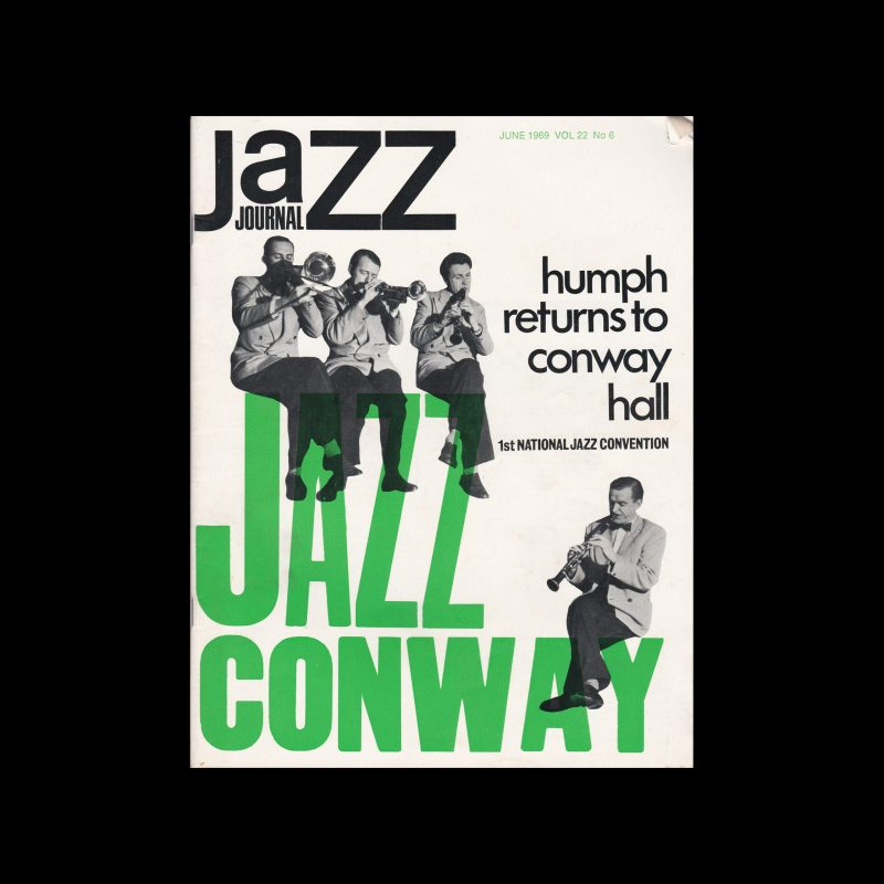Jazz Journal, 6, 1969. Cover design by Cal Swann