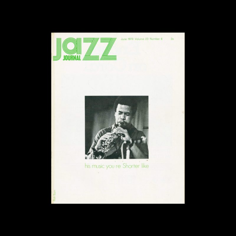 Jazz Journal, 6, 1970. Cover Bob Burn (Design), Harry M. Monty (Photography)