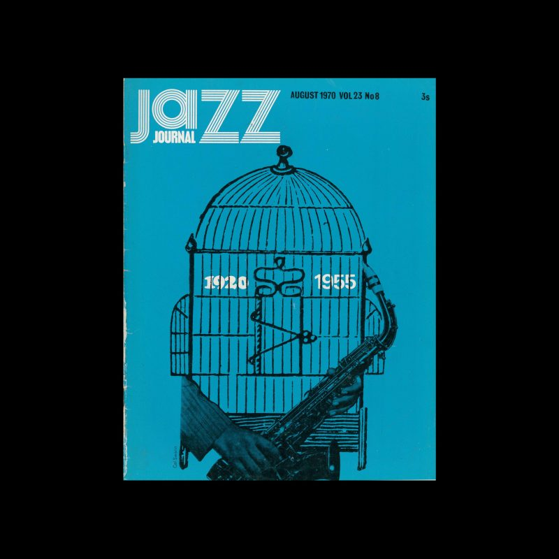 Jazz Journal, 8, 1970. Cover design by Cal Swann