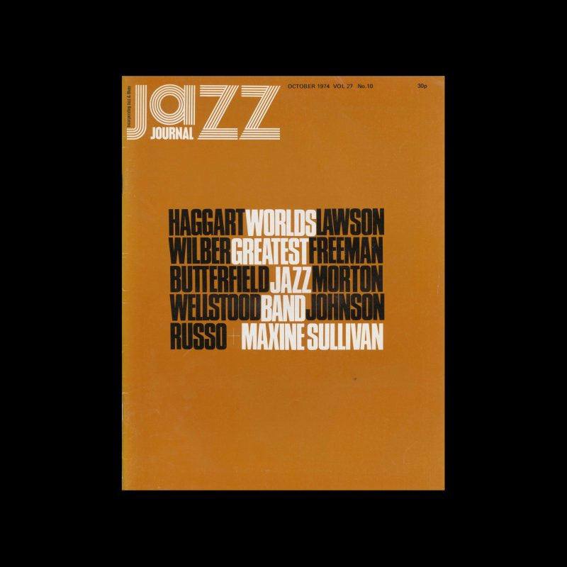 Jazz Journal, 10, 1974. Cover design by Cal Swann