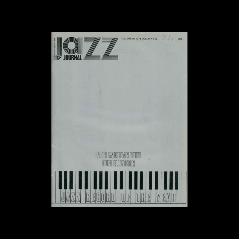 Jazz Journal, 12, 1974. Cover design by Sally Ruff