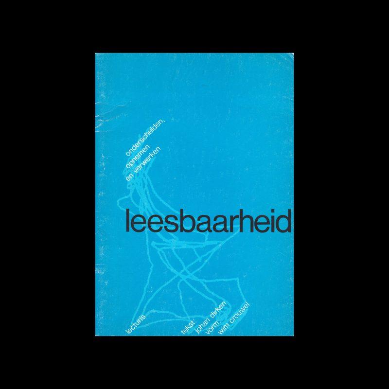 Leesbaarheid : onderscheiden, opnemen en verwerken, Lecturis, 1976 designed by Wim Crouwel