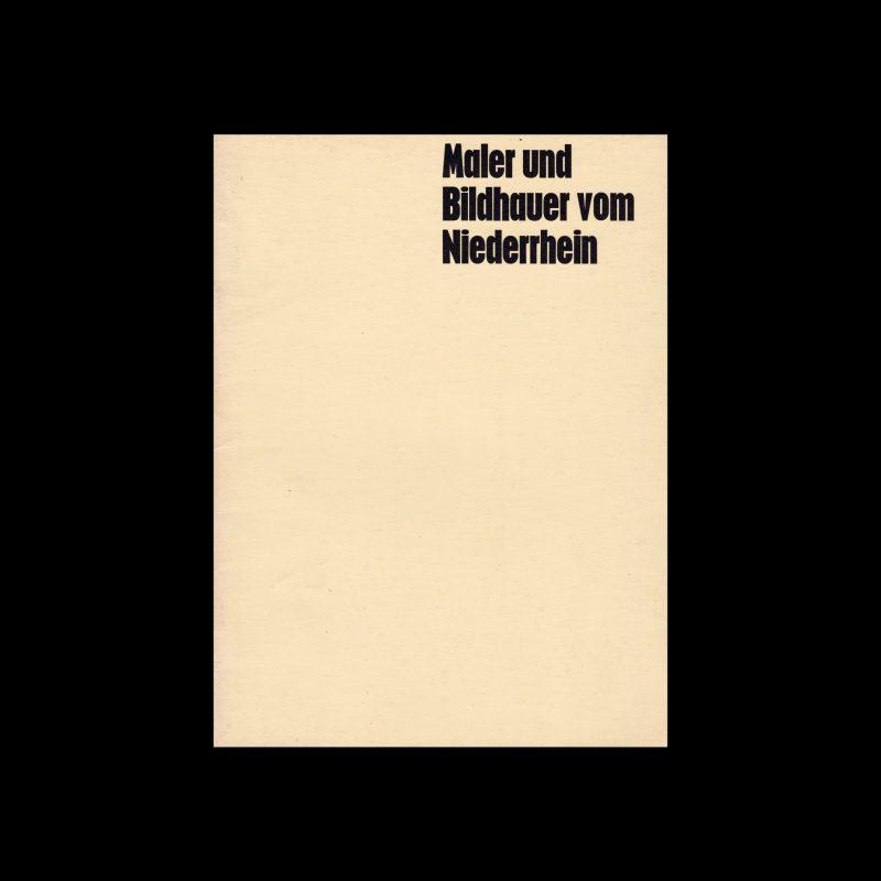 Maler und Bildhauer vom Niederrhein, 1968