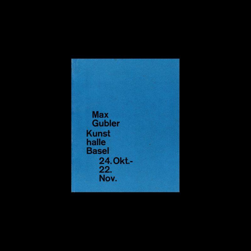 Max Gubler, Kunsthalle Basel, 1959 designed by Armin Hofmann