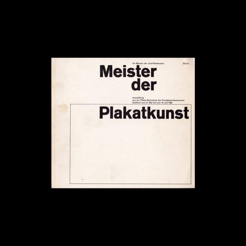 Meister der Plakatkunst, Kunstgewerbemuseum, Zurich, 1959. Designed by Siegfried Odermatt.