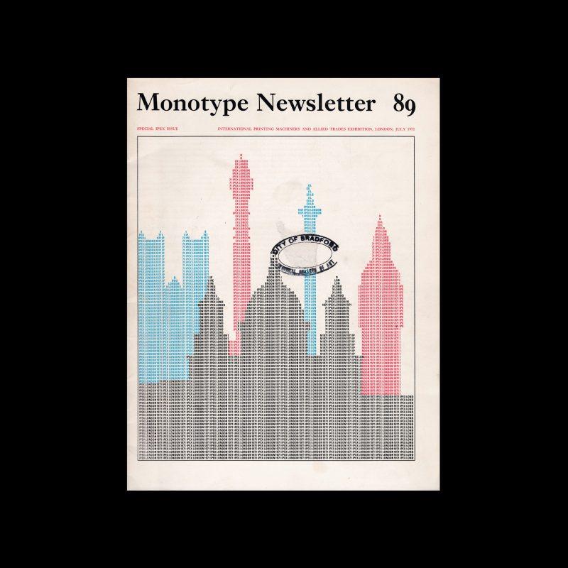 Monotype Newsletter 89, July 1971