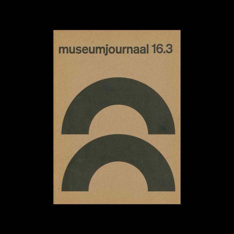 Museumjournaal, Serie 16 no3, 1971. Designed by Jurriaan Schrofer.