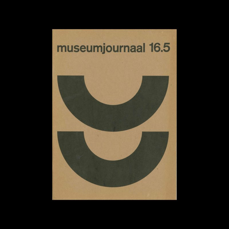 Museumjournaal, Serie 16 no6, 1971. Designed by Jurriaan Schrofer.