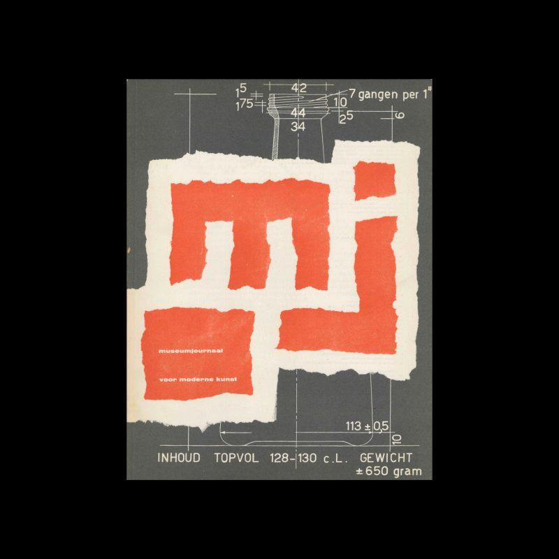 Museumjournaal, Serie 9 no9/10, 1963. Cover design by Pieter Brattinga.