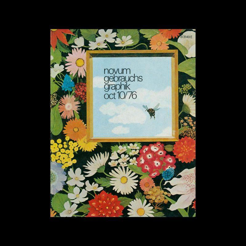 Novum Gebrauchsgraphik, 10, 1976. Cover design by Karin Blume