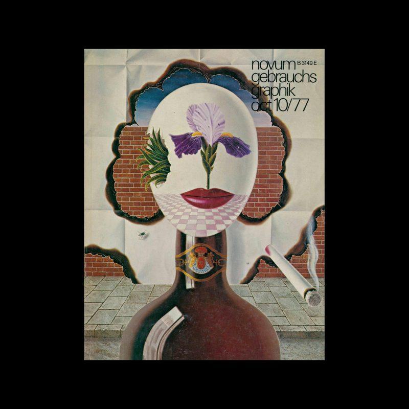 Novum Gebrauchsgraphik, 10, 1977. Cover design by Gervasio Gallardo