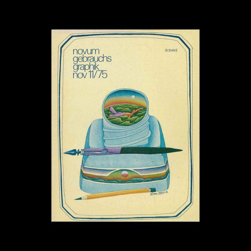 Novum Gebrauchsgraphik, 11, 1975. Cover design by Colman Cohen