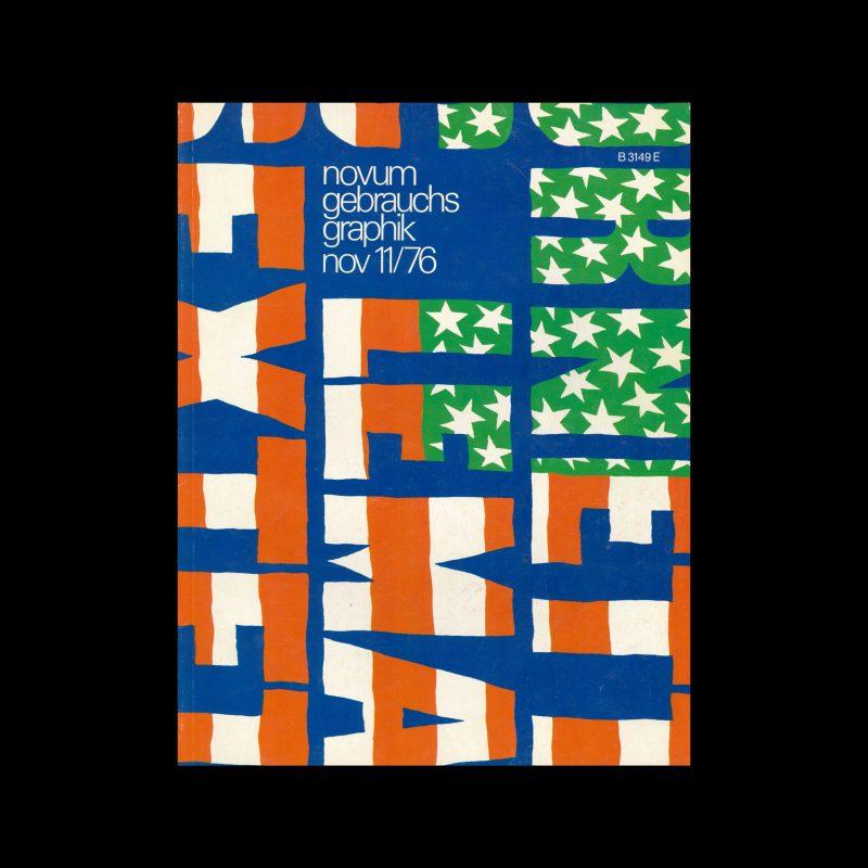 Novum Gebrauchsgraphik, 11, 1976. Cover design by Niklaus Troxler