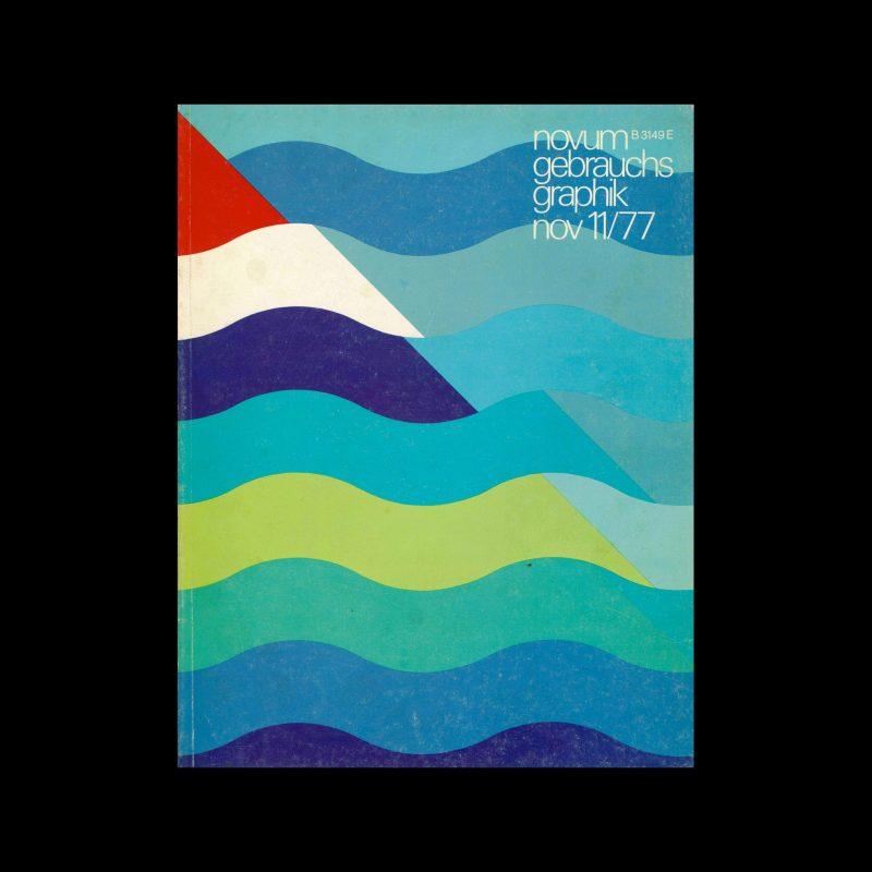 Novum Gebrauchsgraphik, 11, 1977. Cover design by Hans Schweiss