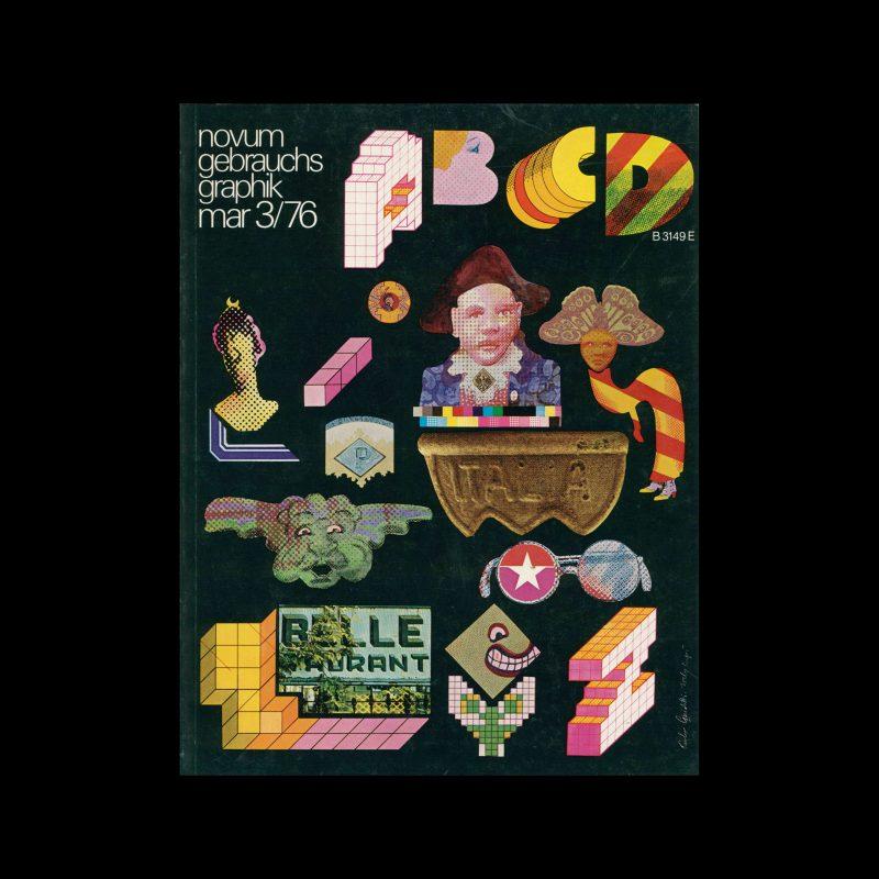 Novum Gebrauchsgraphik, 3, 1976. Cover design by Paolo Guidotti/Italo LupiNovum Gebrauchsgraphik, 3, 1976. Cover design by Paolo Guidotti/Italo Lupi