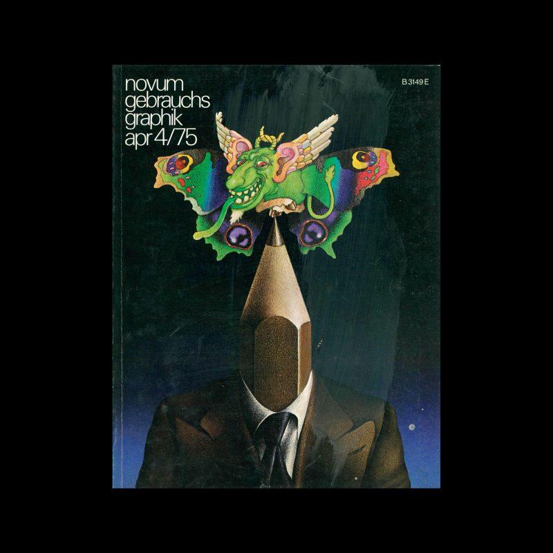 Novum Gebrauchsgraphik, 4, 1975. Cover design by Patrick Couratin + Henri Galeron
