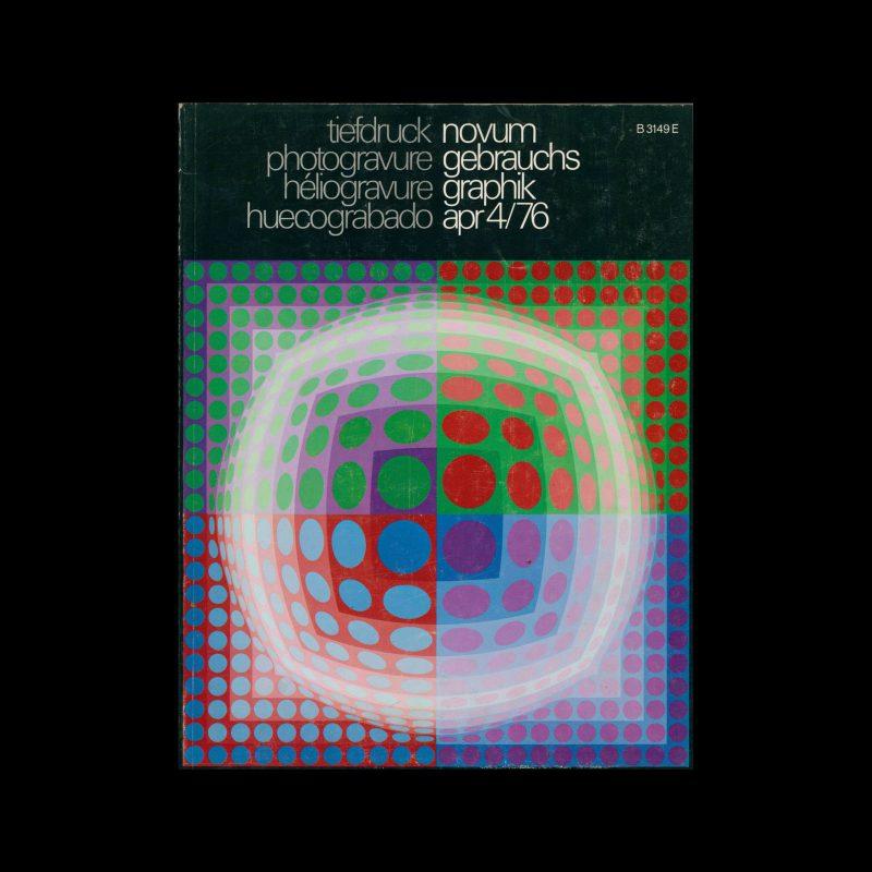 Novum Gebrauchsgraphik, 4, 1976. Cover design by Victor Vasarely