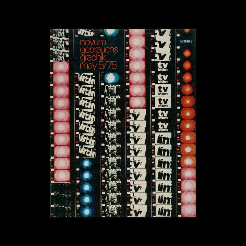 Novum Gebrauchsgraphik, 5, 1975. Cover design by Frieder Grindler + Dieter Zimmermann