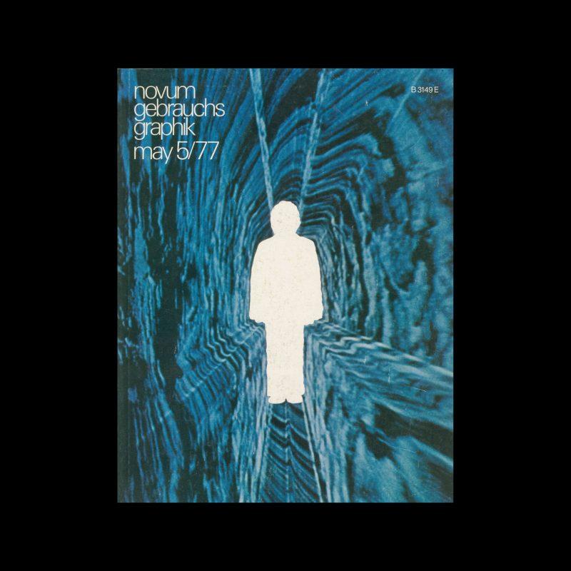 Novum Gebrauchsgraphik, 5, 1977. Cover design by Bernard Lodge