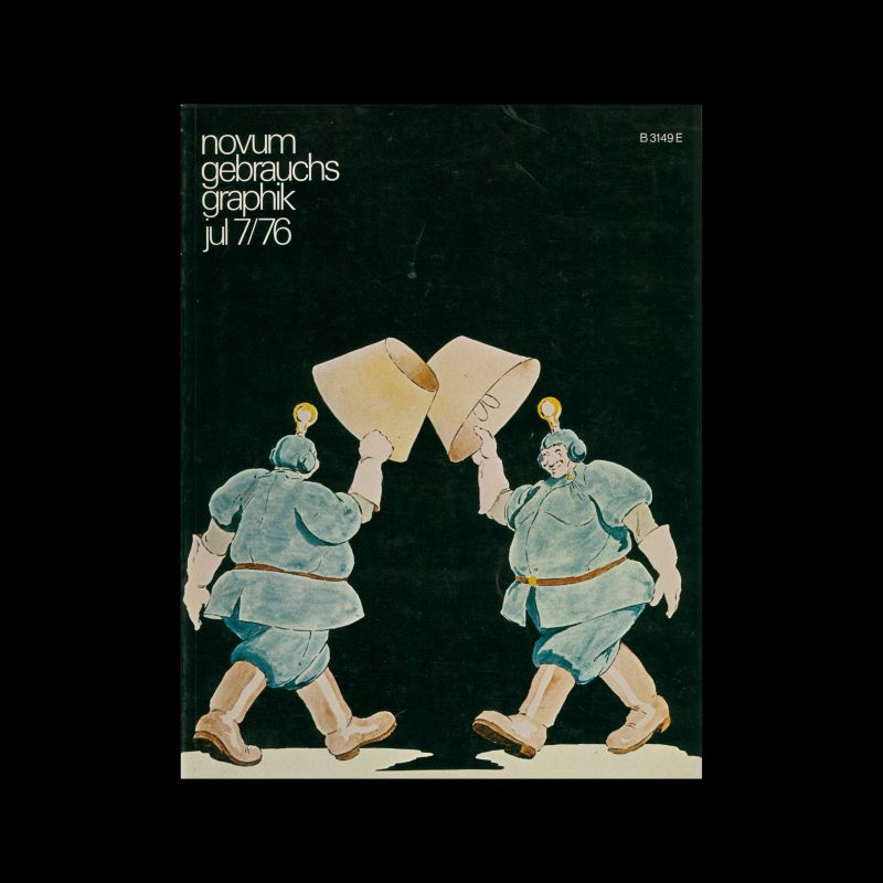 Novum Gebrauchsgraphik, 7, 1976. Cover design by Jean Alessandrini