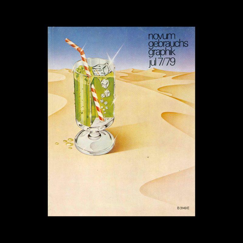 Novum Gebrauchsgraphik, 7, 1979. Cover design by Werbegruppe Kochlowski